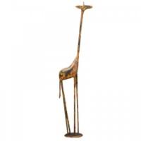 Evdebir El Boyaması Metal Küçük Zürafa