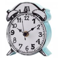 Evdebir Mavi Yüzeyli Karikatürize Saat