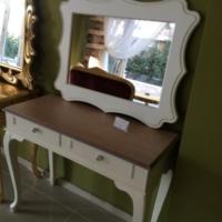 Zengin Aksesuar Akça Cila Ahşap Dresuar Ayna Takım
