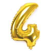 """Cin 16"""" 40 cm. 4 Rakamı Altın Rengi Folyo Balon cin84-4"""
