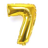 """Cin 16"""" 40 cm. 7 Rakamı Altın Rengi Folyo Balon cin84-7"""