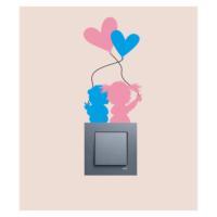 Küçük Aşıklar Priz Sticker