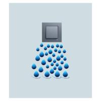 Su Damlası Priz Sticker