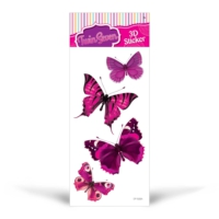 Pembe Kelebekler 14x28 cm Sticker