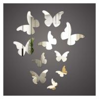 Kelebekler 1 mm Ayna Sticker