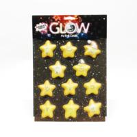 3D Neşeli Yıldızlar Karanlıkta Parlar