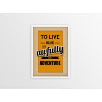 Big Adventure Çerçeveli Poster