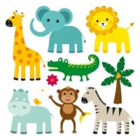 DekorLoft Hayvanlar Çocuk Odası Duvar Sticker CS-112
