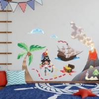 DekorLoft Korsan Adası Çocuk Odası Sticker CS-251