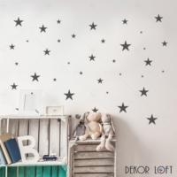 DekorLoft Koyu Gri Yıldızlar Odası Sticker CS-125