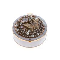 Biev Takı Kutusu Gold İnci-Kelebek 10,5X11,5X6Cm