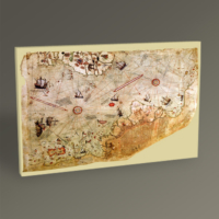 Tablo 360 Piri Reis Dünya Haritasş Tablo 30 x 20 cm