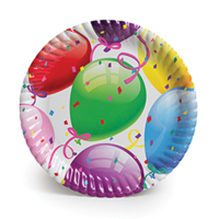 Kullanatmarket Rengarenk Balonlu Karton Tabak