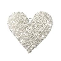Kullanatmarket Hasır Sarkıt Beyaz Kalp Süs 30 Cm