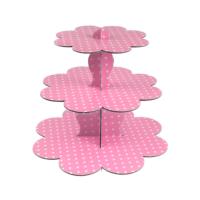 Kullanatmarket Pembe Puantiyeli Cupcake Standı