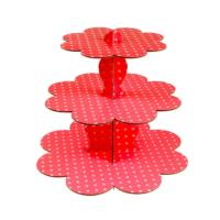 Kullanatmarket Kırmızı Puantiyeli Cupcake Standı