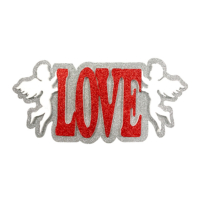 Kullanatmarket Simli Kırmızı Love Melek Duvar Süsü 49Cm