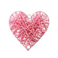 Kullanatmarket Hasır Sarkıt Pempe Kalp Süs 30 Cm