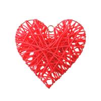 Kullanatmarket Hasır Sarkıt Kırmızı Kalp Süs 30 Cm
