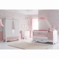 Belis Rose Büyüyen Beşikli Bebek Odası