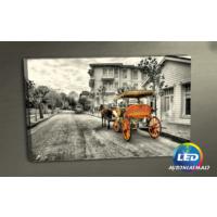 Evmanya Deco Büyük Ada Fayton Led Işıklı Kanvas Tablo 45x65 cm