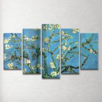 Plustablo Van Gogh Almond Blossom Blossoming Almond Tree 5 Parça Kanvas