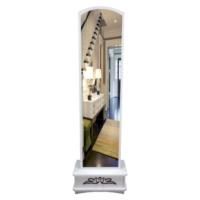 Lale Çekmeceli Boy Aynası / Beyaz