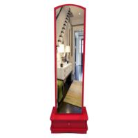 Lale Çekmeceli Boy Aynası / Kırmızı