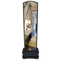 Lale Çekmeceli Boy Aynası / siyah