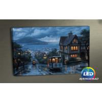 Evmanya Deco San Francisco Led Işıklı Kanvas Tablo 45x65 cm