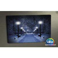Evmanya Deco Karlı Yollar Led Işıklı Kanvas Tablo 45x65 cm