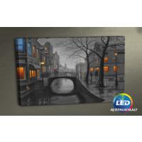 Evmanya Deco Işıklı Camlar Nostalji Led Işıklı Tablo 45x65 cm