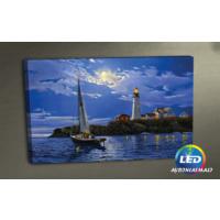 Evmanya Deco Yelken Fener Manzara Led Işıklı Kanvas Tablo 45x65 cm