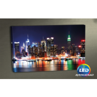 Evmanya Deco New York Led Işıklı Kanvas Tablo 45x65 cm