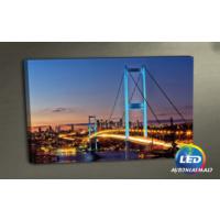 Evmanya Deco İstanbul Boğaz Köprü Işıklı Kanvas Tablo 45x65 cm