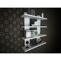 Ankara Mobilya H Model 4 lü Raf Seti Duvar Rafı Kitaplık