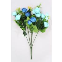 Yapay Çiçek Deposu Yapay Çiçek 13Lü Küçük Eren Gül Demeti Mavi