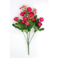 Yapay Çiçek Deposu Yapay Çiçek 13Lü Küçük Eren Gül Demeti Fuşya