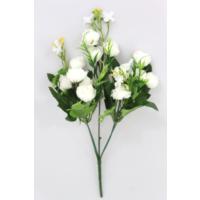 Yapay Çiçek Deposu Yapay Çiçek 13Lü Küçük Eren Gül Demeti Beyaz