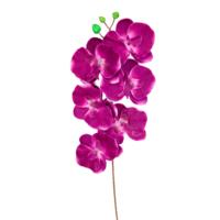 Yapay Çiçek Deposu Ucuz Yapay Orkide Çiçeği Dalı 70 Cm Koyu Mor