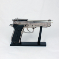Kankashop Çakmak Silah Masa Gümüş