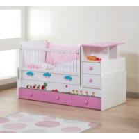 Dessenti Miray Bebek Odası Büyüyen Beşik Beyaz-Pembe