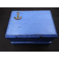 Toptancı Amca Ahşap El Yapımı Sandık Gemi Çapası Sanduka Ekitme Boyama