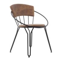 Kozza Home Endüstriyel Metal İtlk Sandalye