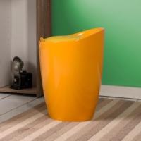 Handy Mate Oval Sandıklı Tabure - Parlak Sarı