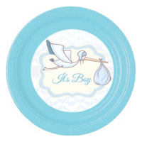 Bebekparti It's Boy Baby Shower Plastik Tabak 1 Adet