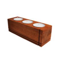 Tuander Trıo Candle Wood Ahşap Mumluk