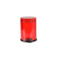 Oyks Pedallı Metal Çöp Kovası 12 Litre Kırmızı
