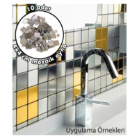 Artikel Kendin Yap-5 4X4 Cm Ayna Sticker 10 Adet