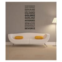 Artikel Bu Evde Gerçekçiyiz Duvar Yazısı 135X57 Cm